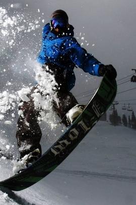 Snowboard Evening Snow Light Trick