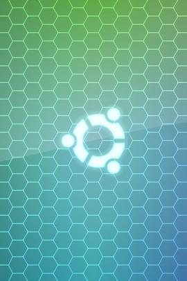 Ubuntu Green White Grid 26550 720x1280