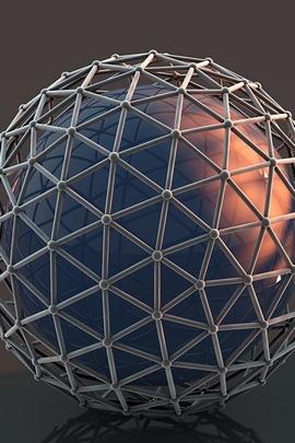 Balls Mesh Surface Metal 47713 720x1280