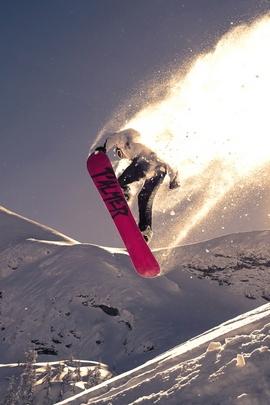 القفز على الثلج خدعة الثلج