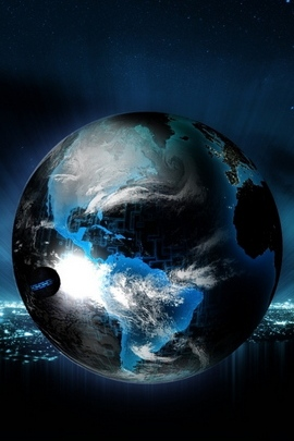 Ball Globe Planet Light Neon Background 20151 720x1280