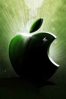 应用风暴苹果Mac绿色白色