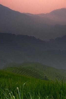 Sonnenuntergang Hill Blick