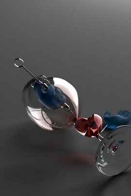 Glass Wine Glass Heart Red Blue 33 720x1280
