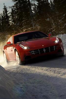 Ferrari In Snow