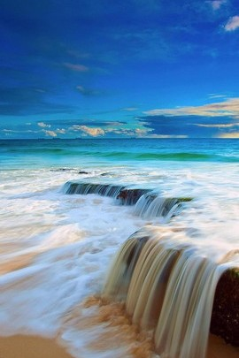Sea Waterfalls