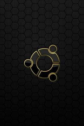 Ubuntu Os Logo Black Yellow 28786 720x1280