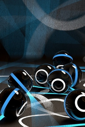 Balls Stripes Circles Bright Surface 63424 720x1280