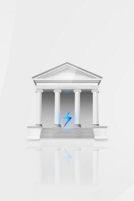 Building Columns White Blue