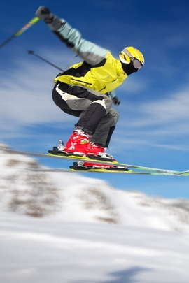 Mountain Skiing Jump Trick Speed Extreme Mask 8859 720x1280