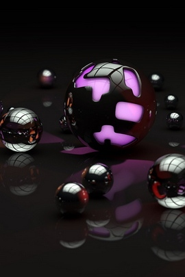 Balls Shape Light Dark 57056 720x1280
