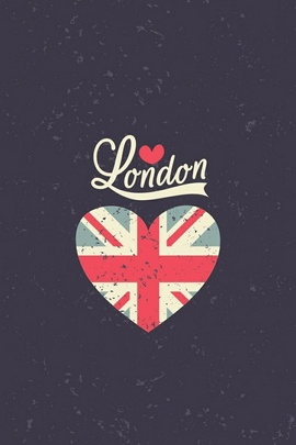 London Uk Heart Flag
