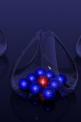 Balls Glass Shape Surface 76004 720x1280
