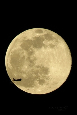 Moon And Plane.