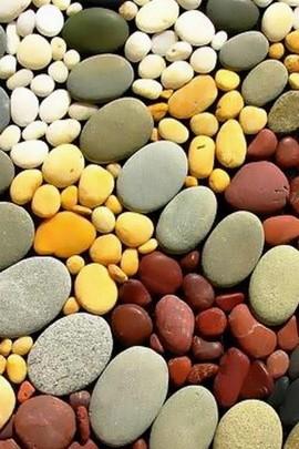 Colorful Massage Rocks