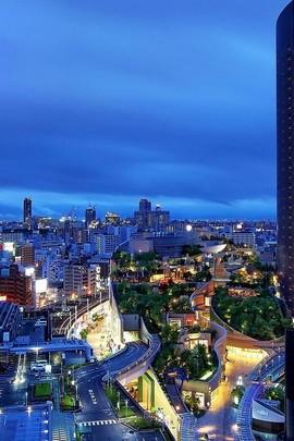 Bläuliche Sky City Aussicht