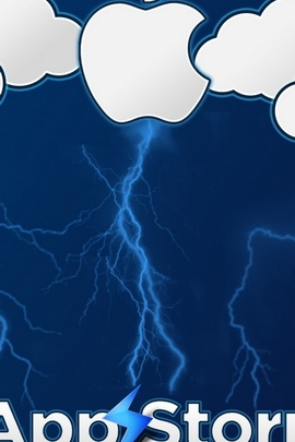 App Storm Apple Mac Blue White Clouds Lightning 8124 720x1280