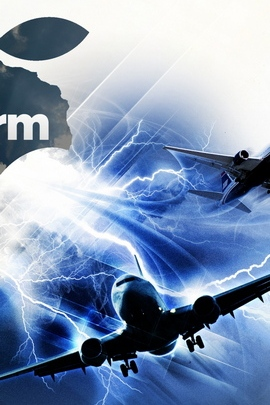 App Storm Apple Mac Aircraft Gray Blue White Flight 8547 720x1280