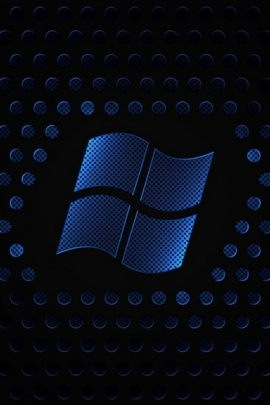 Windows Logo Brand White Dark Texture 26141 720x1280