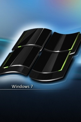 विंडोज 7 ब्लैक ब्लू आइकन लोगो 29684 720x1280