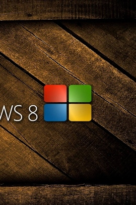 Windows 8 Logo Wooden Colorful 66790 720x1280