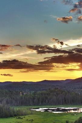 Field Sky Scenery