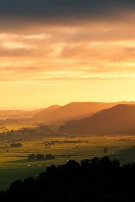 Sonnenaufgang Hill Blick