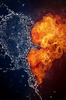 Heart Water Spray Fire