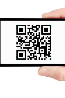 Phone Qr Code Hand White Background Horizontal 80044 720x1280