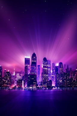 Shine Purple City Night