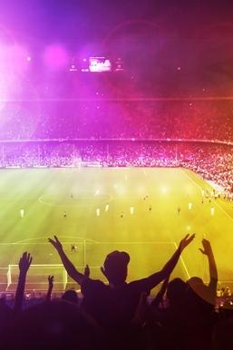 Cheerful Football Field