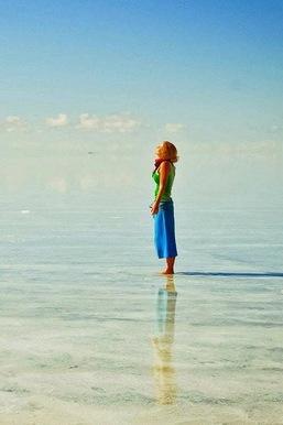 天空之镜(乌尤尼盐沼) 玻利维亚西南