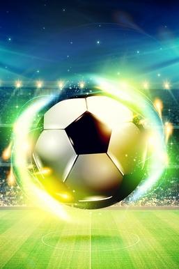 Shiny Football Closeup