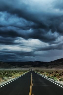 Nature Storm Road Landscape