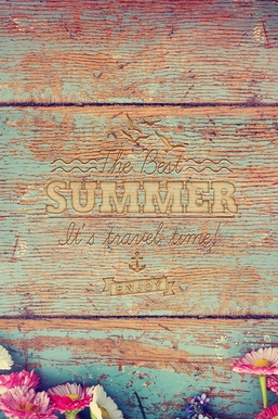 Clean Wooden Summer Text