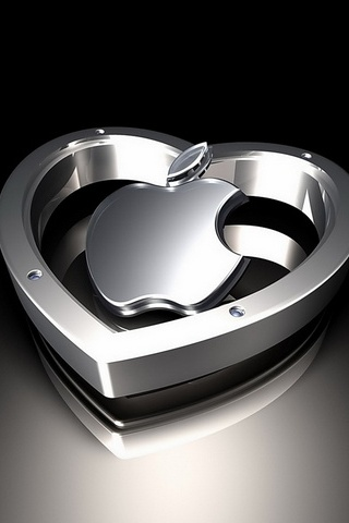 Apple Heart Silver