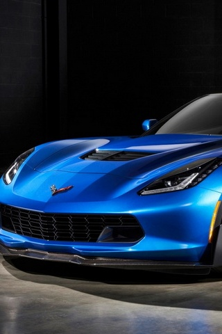 Blue Z06 Chevrolet