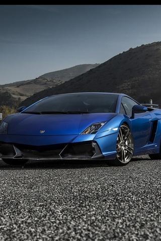 Niebieskie Lamborghini
