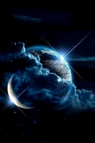 الأرض والقمر