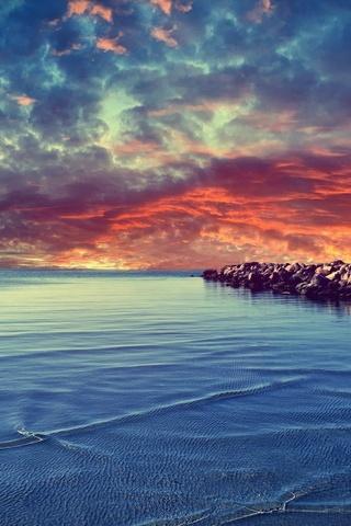 Sunset Rocky Beach