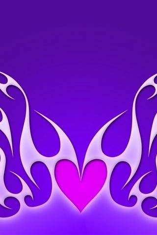 Heart On Purple Fire