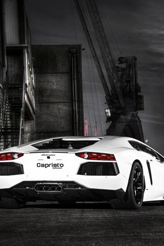 Weißer Lamborghini