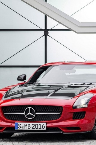 Supercar Red Sls Amg