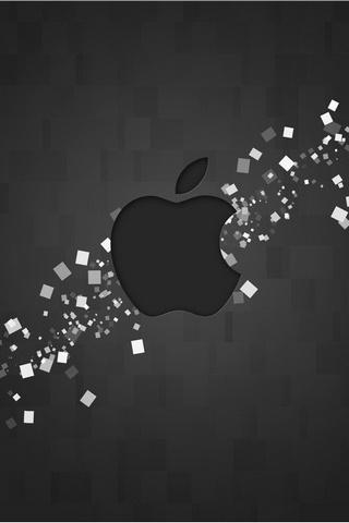 黑色高清苹果