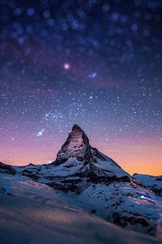 पर्वत पर रात सितारे