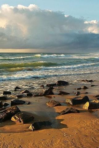 Rocky On Sandy Beach