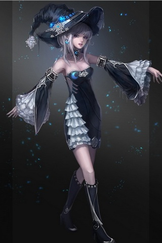 Fantasy Girl Character Witch Picture