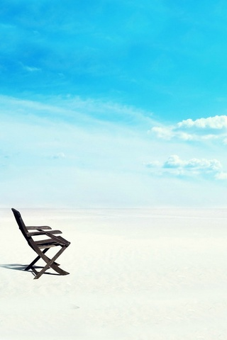 Beach Chair On White Sand