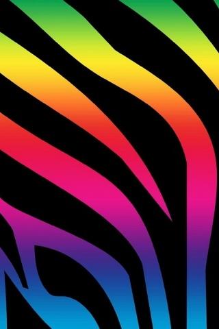 Colorful Zebra Print