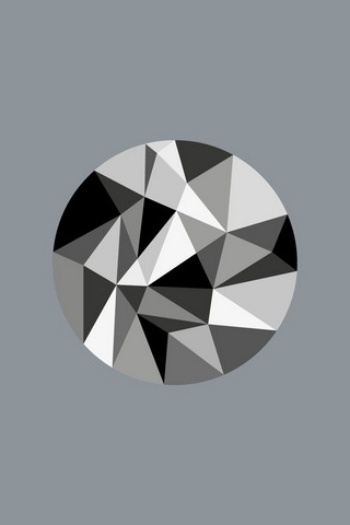 Monochrome Polygon Circle